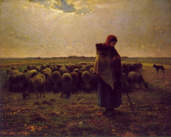 an analysis of the shepherdess and her flock by jean francois millet The barbizon school painter jean-françois millet saw godliness and virtue in the where his shepherdess guarding her flock was jean francois millet.