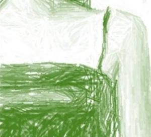Green spagetti strap dress
